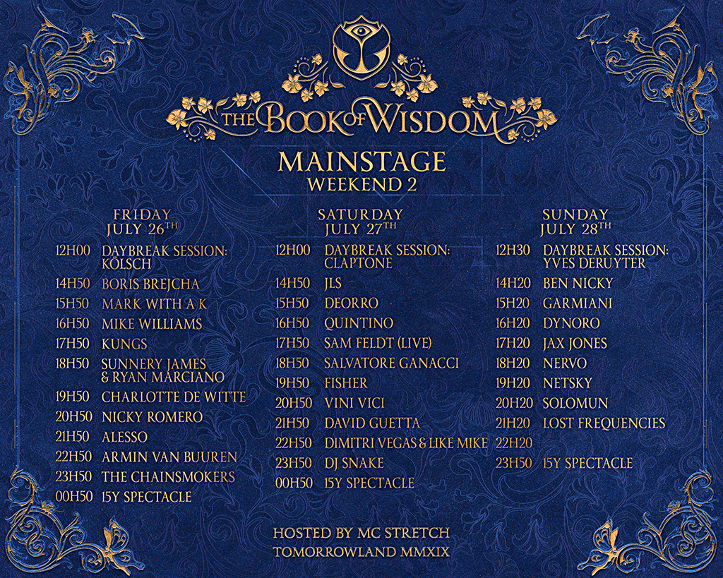Line-up - Festival - Tomorrowland